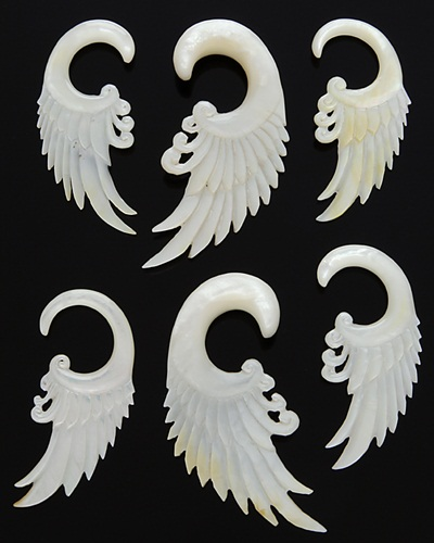 Mother Of Pearl Left Angel Wing Decor: MOTHER OF PEARL ANGEL WINGS